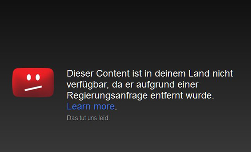Zensur bei YouTube?